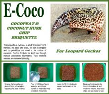 LEOPARD GECKO SUBSTRATE BRIQUETTES